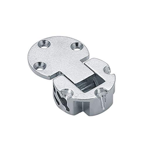 ZLDCTG 2 Piezas de 90 Grados Puerta Ajustable Bisagras de aleación de Zinc Aleación Trasera Bisagra Tapa de la bisagra Oculta