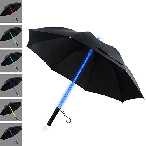 YIER LED Stick Umbrella Lightsaber Light Up Umbrella 7 Color Changing Golf...
