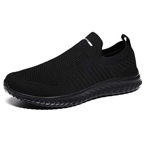 Scarpe da Corsa su Strada Donna Camminata Sportive Sneakers Running Outdoor Fitness Leggere Casual Air Traspiranti(A.Nero,38EU)