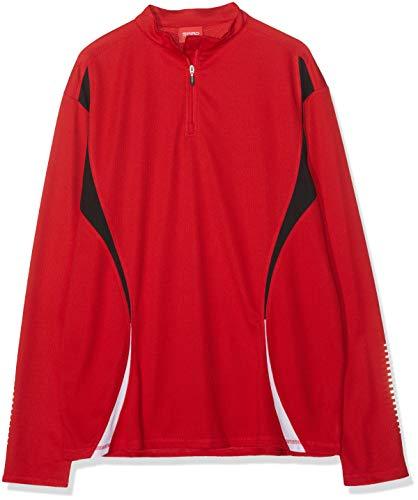 Spiro pour Homme d'essai d'entraînement Tops Large Rouge/Noir/Blanc