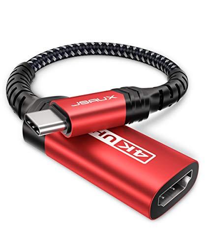 JSAUX USB C auf HDMI Adapter 4K@60Hz, USB Typ C zu HDMI Adapter [Thunderbolt 3] Kompatibel mit Samsung S21/S21+/S20/S20+/S20 FE/Note20/Note10, Huawei P40/P30/Mate 40/40 Pro/Mate 30/30 Pro Rot
