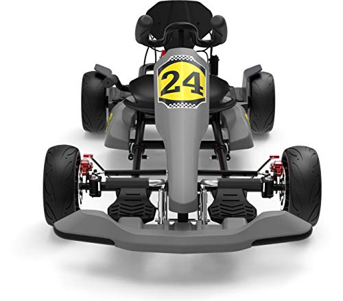 HYPER GOGO GoKart Kit - Hoverboard Attachment - Compatible with All Hover Boards ,Grey