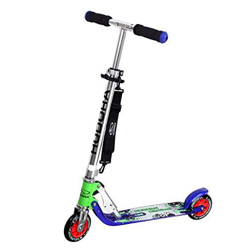 Scooter de Pedal Plegable de 4 velocidades / 5 velocidades de Altura Ajustable, Pedal de Dos Ruedas para niños Scooter de Pedal