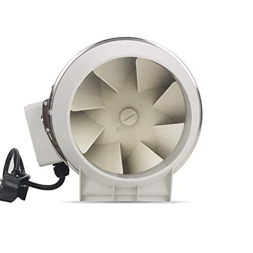 Badkameraccessoires, badventilator, industriële huishoudens, ronde buisventilator, 220 volt, 38-43 dB (A), witte kunststofventilator, geluidsarme afvoerventilator 31cm