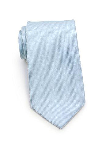 PUCCINI Krawatte mit Struktur, Einfarbig, 31 verschiedene Farben, Mikrofaser, 8 cm, Handarbeit, Hochzeit – Alltag – Büro (Hellblau)