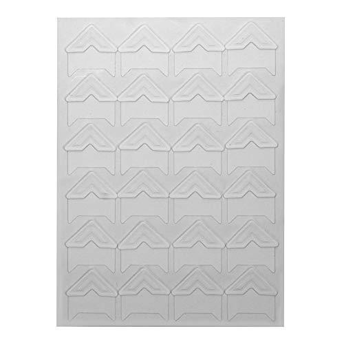 NNMNBV 24 Teile/los DIY Ecke Kraftpapier Aufkleber für Fotoalben Foto Ecke Aufkleber Album Rahmen Dekoration Scrapbooking Vintage (Weiß)