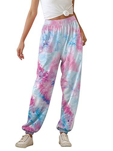 uideazone Women's Active Sweatpants Workout Yoga Hight Waist Joggers Pants Ultra Soft Lounge Elastic Waist Loose Sweat Pants with Pockets