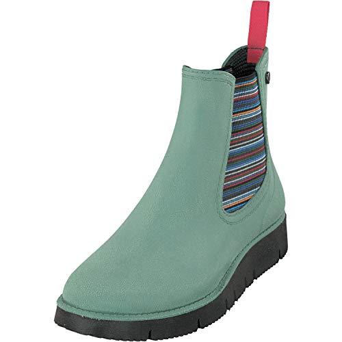 GOSCH SHOES Damen Schuhe Chelsea Boots Stiefelette 7105-320 in 6 Farben (37, Pastel Grün)