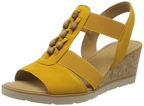 Gabor Shoes Damen Basic Riemchensandalen, Gelb (Mango 13), 38 EU