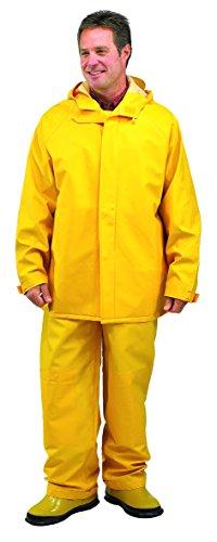 Galeton 7953-L-YW 7953 Repel Rainwear 0.50 mm PVC 2-Layer Rain Suit, Yellow, Large