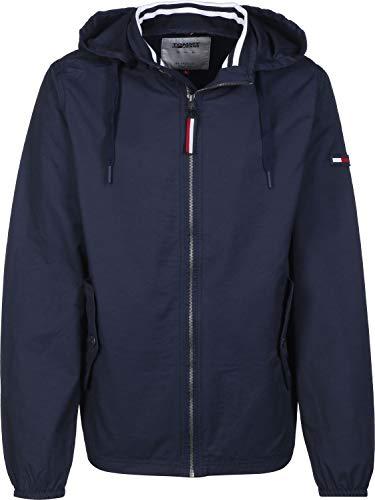 Hilfiger Denim Herren TJM Essential Hooded Jacket Jacke, Blau (Black Iris 002), Small (Herstellergröße: S)