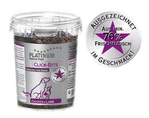 Platinum Natural Click Bits Chicken und Lamb, 1er Pack (1 x 300 g Packung) - Hundefutter