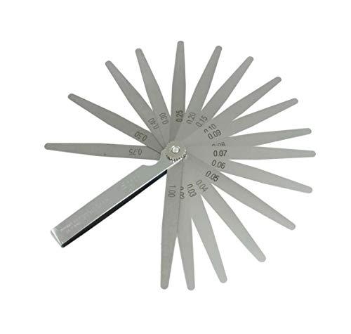 ZOYUBSステンレス シックネスゲージ 隙間ゲージ ゲージ 隙間測定ツール 厚さ 薄さ 測り 測定用 17枚組 (0.02mm-1.0mm) L 100mm 携帯便利