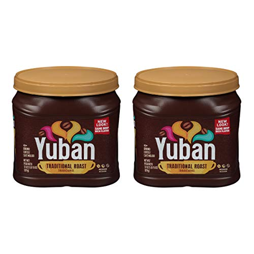 Yuban Traditional Medium Roast Ground Coffee (31 oz Canisters, Pack of 2)