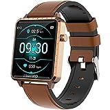 Smartwatch Donna,Orologio Fitness 1,54'' Smart Watch con Cardiofrequenzimetro da Polso Pressione Sanguigna Sonno Salute Contapassi Calorie Notifiche Messaggi,Sportivo Fitness Tracker Impermeabile IP68