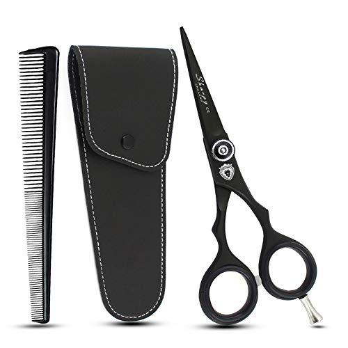 Sharpy Ciseaux à barbe professionnels de 11,4 cm, ciseaux à moustache, ciseaux à barbe et poils d'oreille, utilisation sûre pour sourcils, cils et poils d'oreille en acier inoxydable