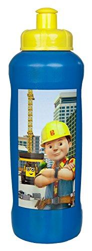 Scooli BODB9911 - Sportflasche aus Kunststoff, leicht zu öffnen und zu schließen, BPA und Phthalat frei, Bob der Baumeister, ca. 450 ml
