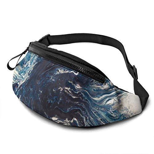 XCNGG Bolso de la Cintura del Ocio Bolso Que acampa Bolso del montañismo Waist Pack Bag for Men&Women, Fractal Utility Hip Pack Bag with Adjustable Strap for Workout Traveling Casual Running