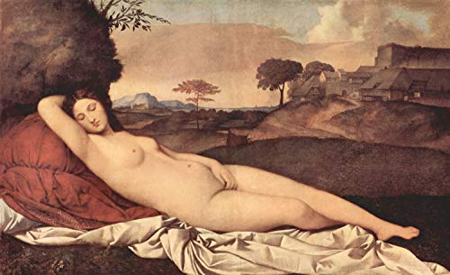 Home Comforts Giorgione - Sleeping Venus-11 Inch by 17 Inch Laminated Poster-Posters with Bright Colors and Vivid Imagery-Convenient 11 Inch by 17 Inch Size Fits Perfectly in Many Attractive Frames