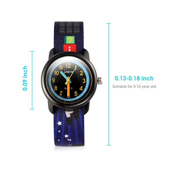 Waterproof Kids Watches for Boys Girls Analog Watch Time Teacher Analog Watch Toddler Watch with Cartoon Nylon Strap Adjustable and Washable for Little Boys Girls Birthday Gifts Toys