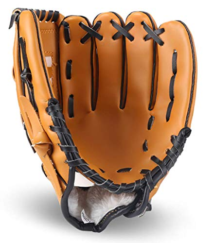 Lawei Baseball Handschuhe Batting PU Leder Baseball Glove für Sport & Outdoor Kinder Erwachsene - 3 Größen (11,5 Zoll/ 29,5 cm)