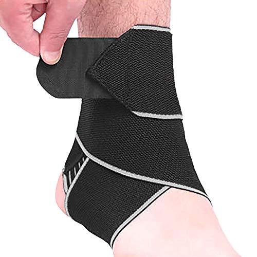 Wamsatto Knöchel Bandage Fußbandage Sprunggelenkstütze mit verstellbare Band