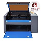 OMTech 50W CO2 Laser Engraver Cutter with 12 x 20in Work Area, Laser Engraving Machine with Ruida Digital LCD Control Real-Time Power Data, USB Port, Air Pump, Red Dot Pointer