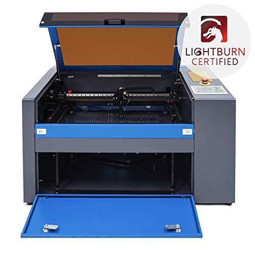 Orion Motor Tech 50W 110V CO2 Laser Engraving Machine Engraver Cutter Auxiliary Rotary Device (Dark Blue)