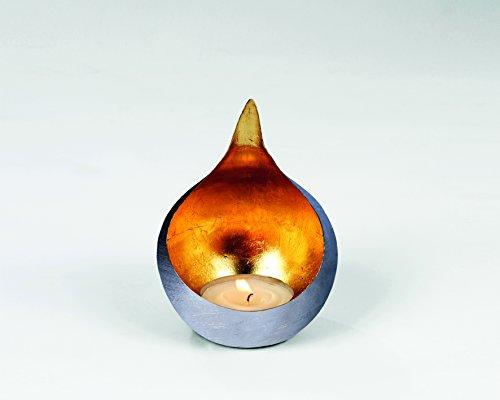 Caldera Windlicht Eisen klein gebürstet/gold H15cm