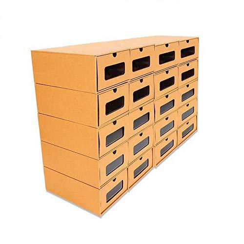 Zapatos De cartón Elegante de Almacenamiento Cajón Caja Plegable Apilable Cubier Cajas Zapatos Almacenamiento cartón Elegante Debajo de la Cama Armario