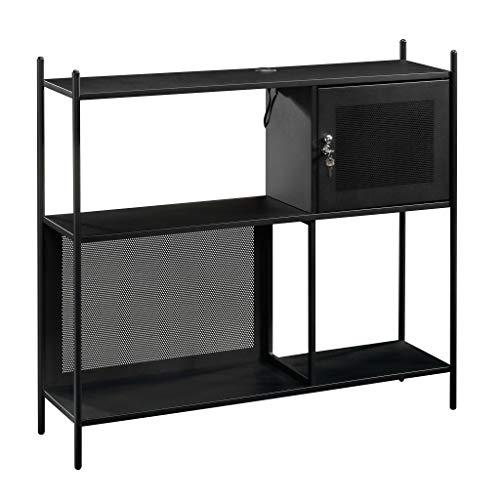 Sauder  Boulevard Cafe Storage Cabinet, Black finish
