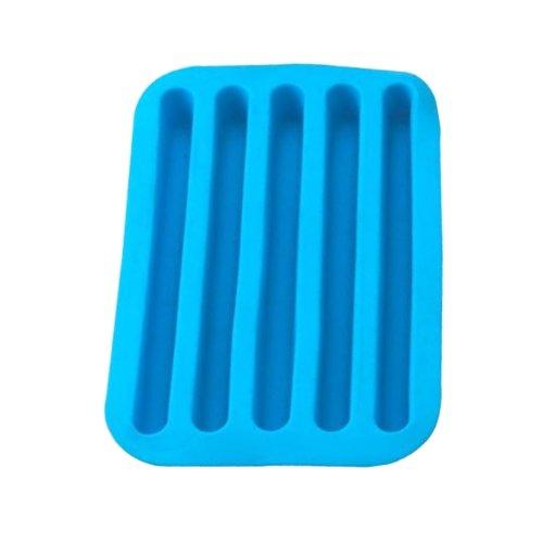 Blue Silicone Bottle Sized Ice Tray