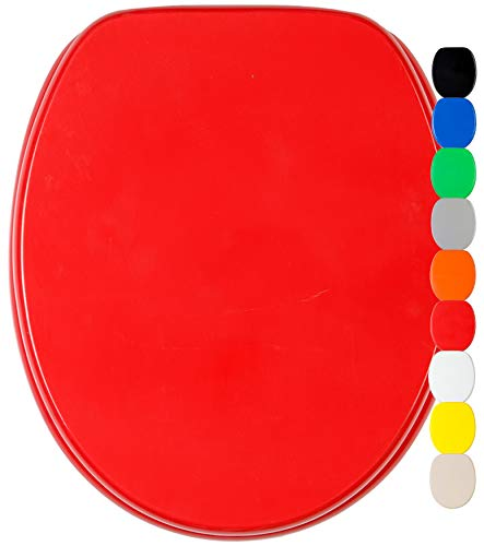 Abattant WC frein de chute soft close - Grande sélection de abattants wc unis - Finition de haute qualité (Rouge)