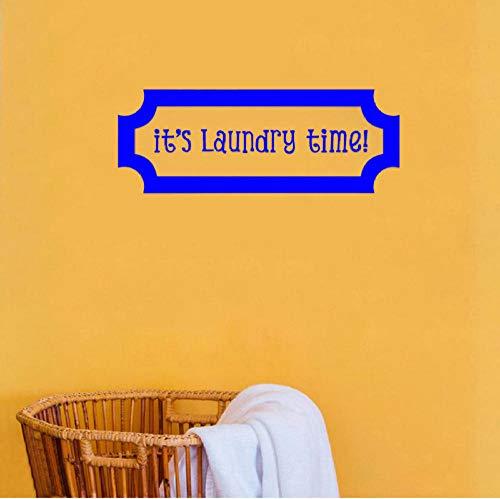 Muursticker Es ist Wäsche Zeit Vinyl Muurtattoo modder kamer Decoratie Accessoires voor badkamer Behang voor muren in rol 30x80cm