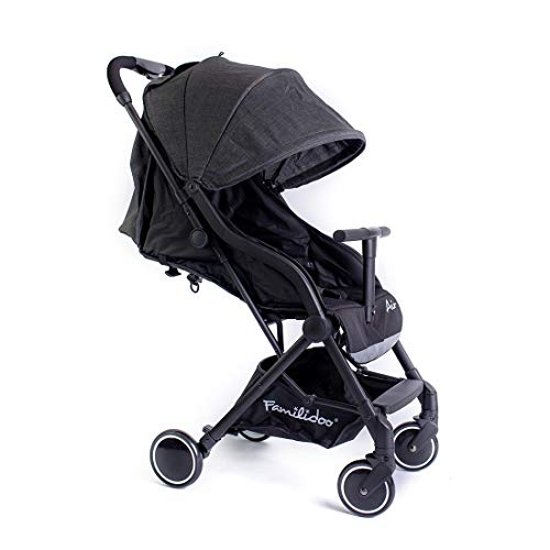 Familidoo Air Lightweight Baby Stroller | Easy One Handed Folding Pushchair | Use From Newborn To Toddler | Dark Grey