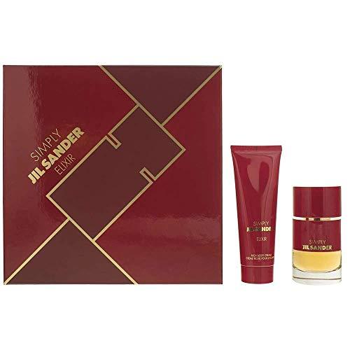 Jil Sander - Simply Elixir Set - 40ml Eau de Parfum Sprayflasche + 75ml Rich Body Cream