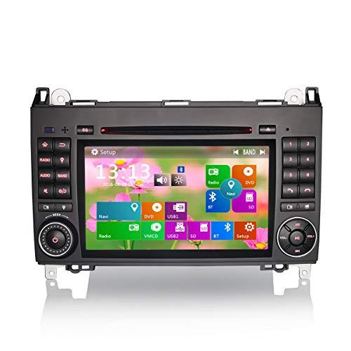 Erisin 7 Zoll Autoradio für Mercedes A/B Class W169 W245 Vito Viano Crafter DVD Player mit USB SD Navi Unterstützt Bluetooth Navi 3G DVD DVR Lenkradfernbedienung DAB+
