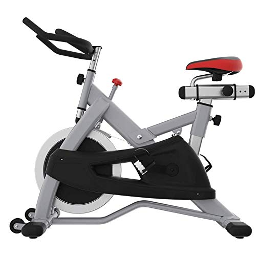 WJFXJQ Luxury Commercial Ultra-Quiet Fitness Bicycle for Gym Commercial Grade Spin Bike Exercise Cycle for Gyms with 22kgs Solid Chrome Flywheel - Heavy Duty Indoor Stationary Cycling Machine