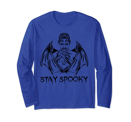 Stay Spooky Shirt - Disfraz de vampiro de murciélago de Halloween Manga Larga