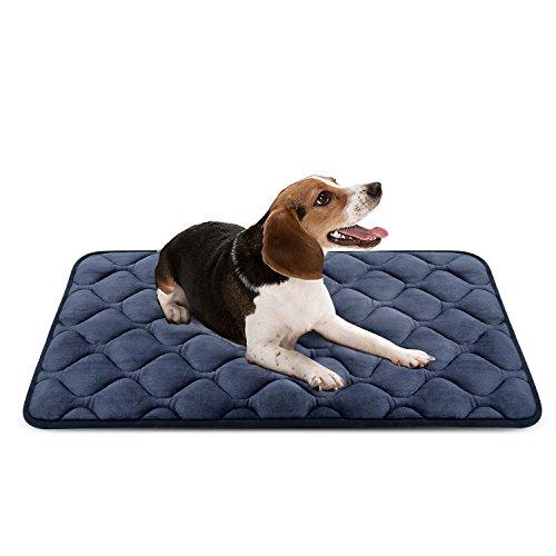 Panier Doux pour Chien, Lit Coussin de Luxe et Durable 90x60 cm, Tapis Antidérapant et Lavable de Chien Hero Dog (Gris, Moyenne Taille)