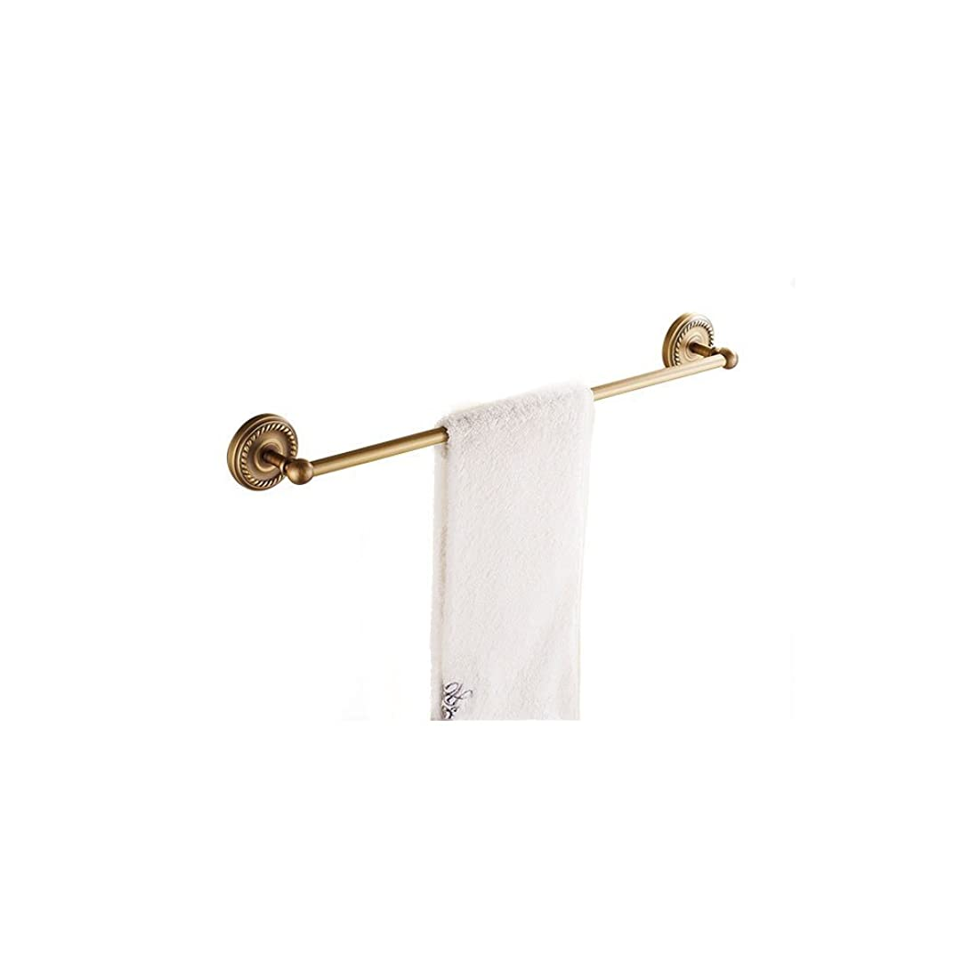 ヒューズコウモリ嫌がらせタオル掛け バス用品 壁 バスアクセサリー 省スペース取付け しっかり固定 洗面所 真鍮製 ブロンズ色 壁掛けタオルバー お風呂 アンティーク風