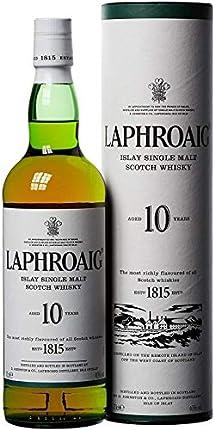 Laphroaig Single Malt Scotch Whisky - Whisky Escoces, 10 Años, 40%, 700 ml