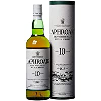 Laphroaig 10 Años Single Malt Escoces Peated Whisky Escoces, 40% - 700 ml