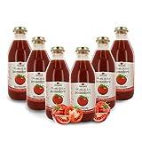 Zumo de Tomate Ecológico - Sin Azúcares Añadidos - 6 Botellas de 750ml