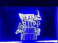 Game Room ゲーム ルーム LED ネオン サイン ライト ブルー