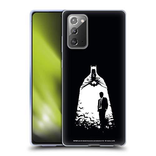 Head Case Designs Oficial Batman DC Comics Alter Ego murciélagos Dualidad Carcasa de Gel de Silicona Compatible con Samsung Galaxy Note20 / 5G