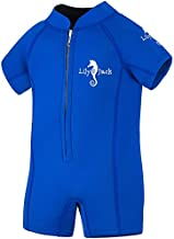 Lily&Jack Toddler & Baby Wetsuit for Boys and Girls 6 Mos. to 2 Yrs. – 2mm, UV Protection, Chlorine/Salt Resistant Neoprene Kids Wetsuit with Zipper for Warmth and Comfort, Blue