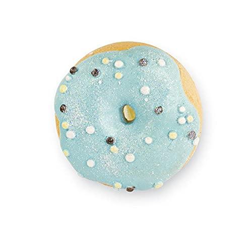 Ingrosso e Risparmio 6 imanes con forma de donut/donut con glaseado azul y purpurina, ideales para regalos de nacimiento, bautizo, cumpleaños de niño (con paquete celeste)