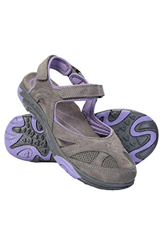 Mountain Warehouse Sandalias Cubiertas para Mujer Bournemouth - Calzado de Verano Duradero, Casual, Ligero, Cuidado fácil - para Caminar, la Playa, Vacaciones Morado Oscuro Talla Zapatos Mujer 38 EU