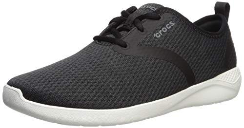 crocs Herren Literide Mesh Lace M Sneakers, Schwarz (Black/White 066b), 39/40 EU
